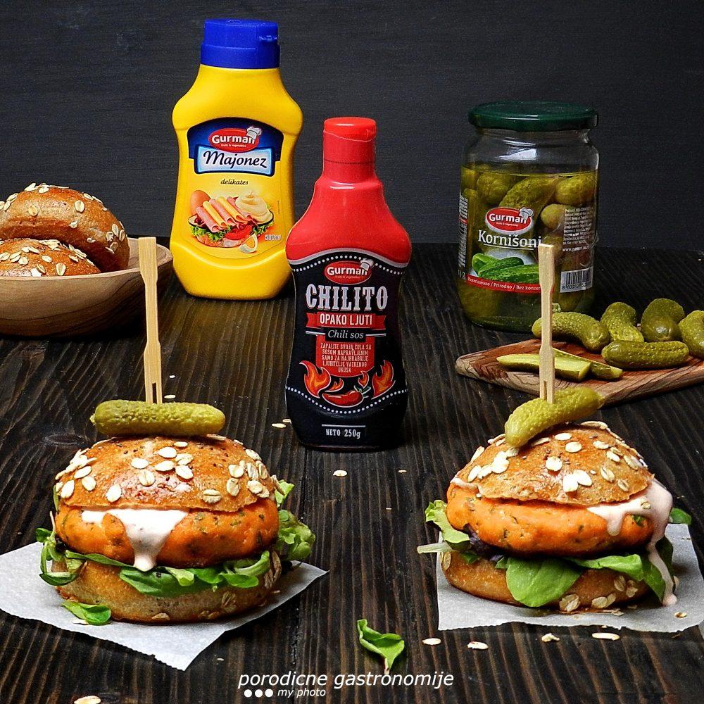 Ljuti burger od lososa